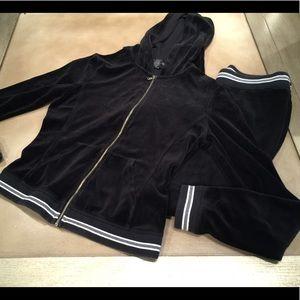 Express Velour Jumpsuit Hoodie track pants Size XS